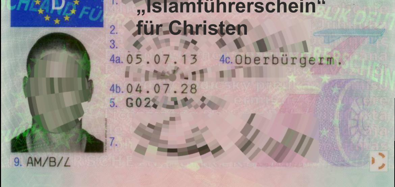 Islamführerschein für Christen