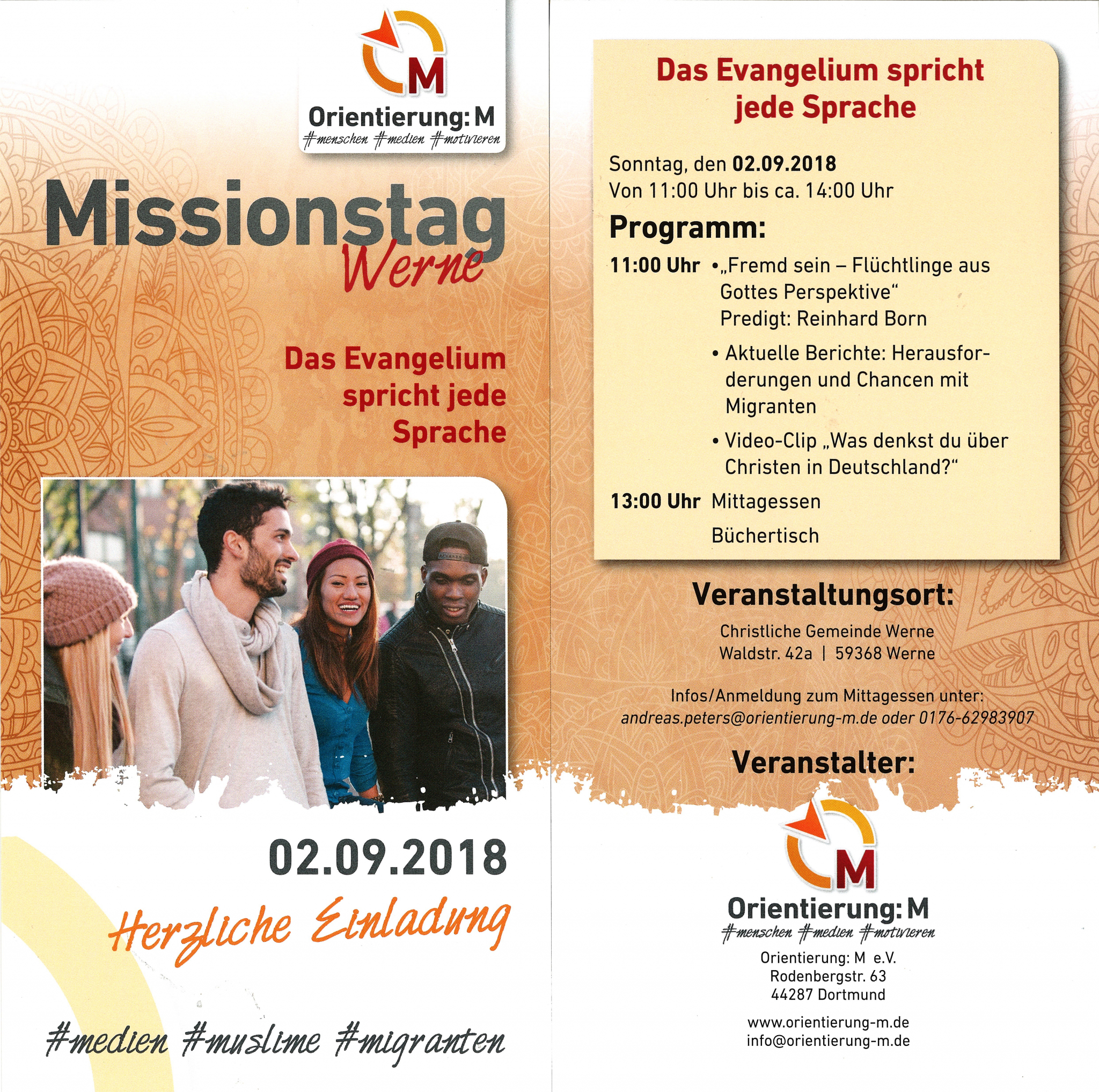 Flyer Missionstag in Werne 2018