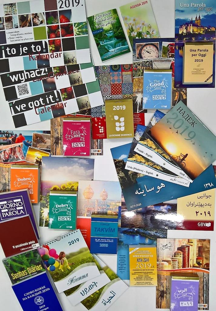 Kalender in verschiedenen Sprachen