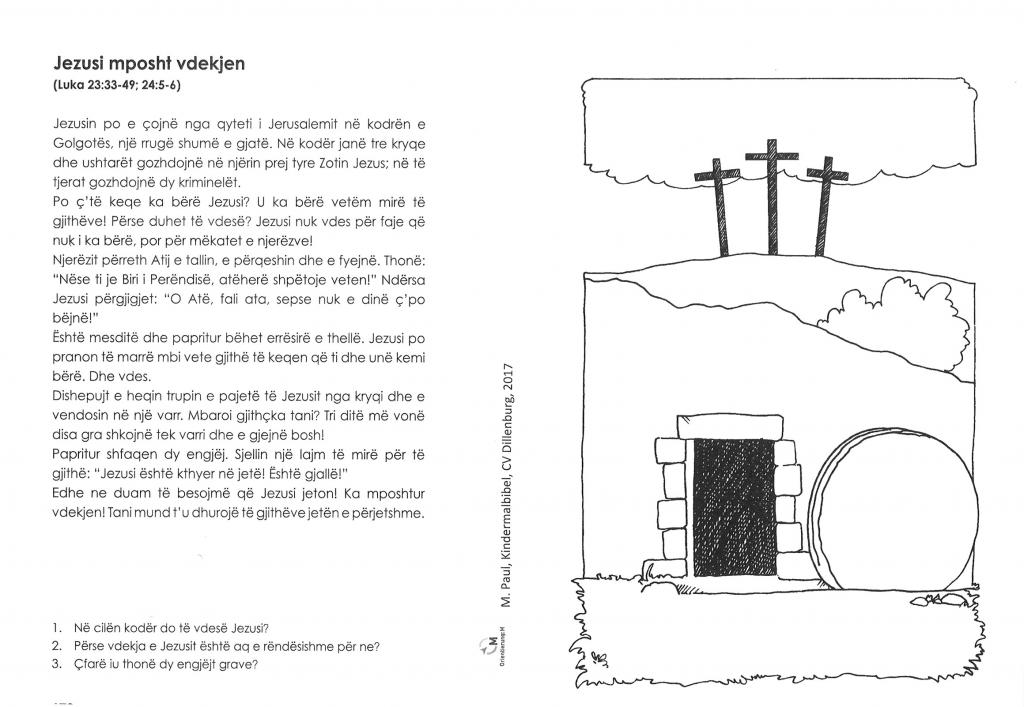 Kinder-Mal-Bibel Albanisch