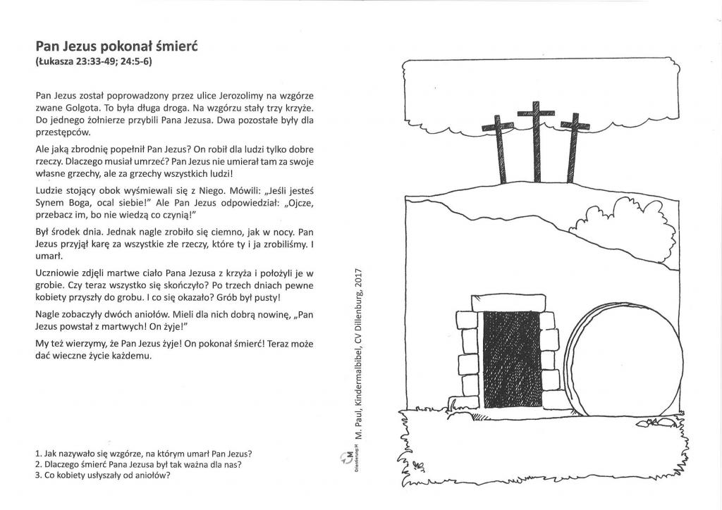 Kinder-Mal-Bibel Polnisch