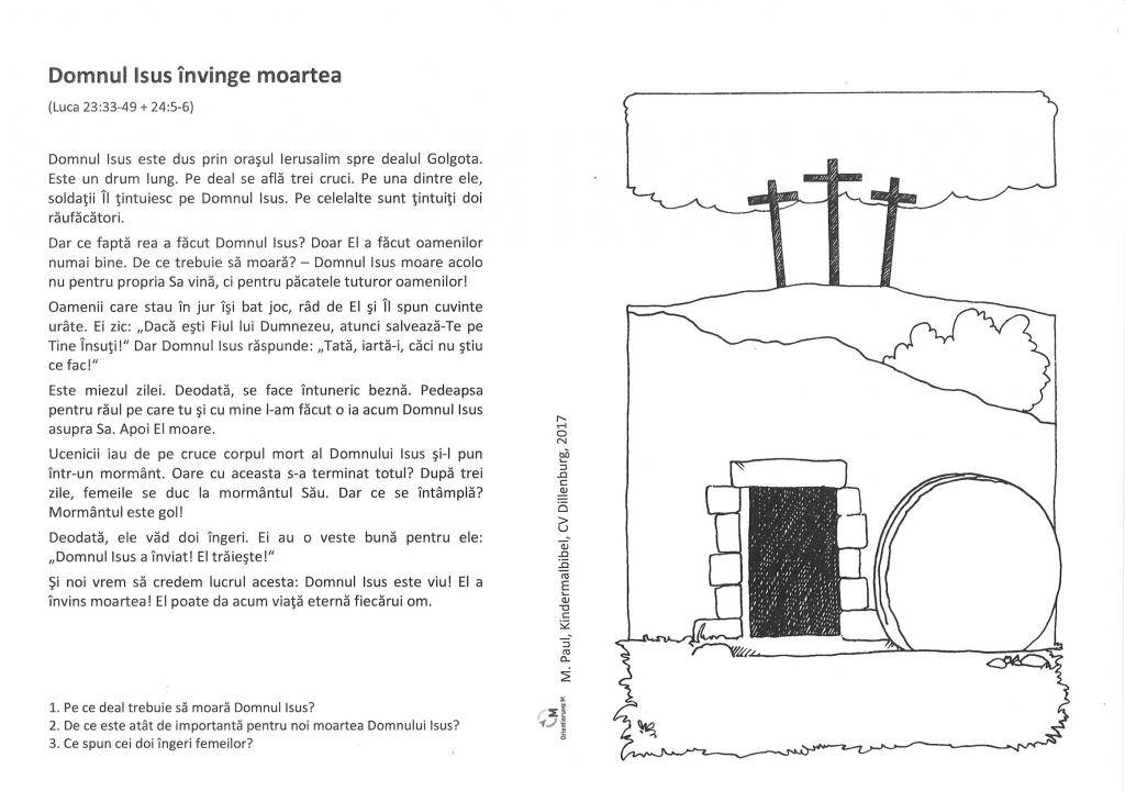 Kinder-Mal-Bibel Rumänisch