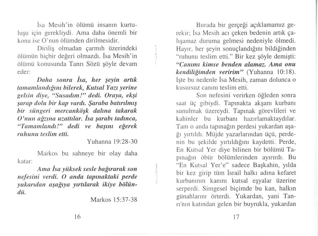 Bedeutung der Auferstehung Türkisch
