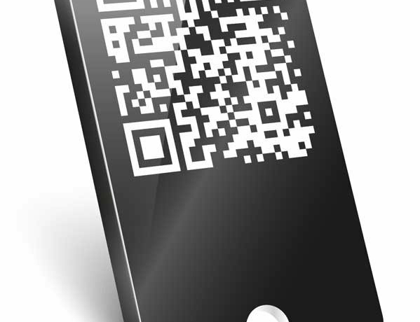 Schlüsselanhänger mit QR-Code für die Bibel-App